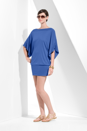Draped Sleeve BCBG Dress