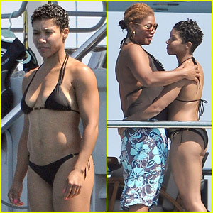 """Queen Latifah and her """"Boo"""" 